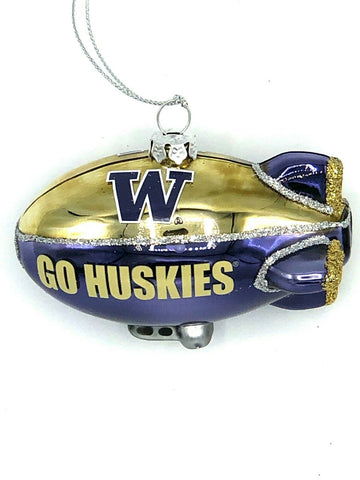 WASHINGTON HUSKIES NCAA Glitter Blimp Christmas Ornament