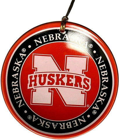NEBRASKA CORNHUSKERS NCAA Mini Ceramic Plate Christmas Ornament