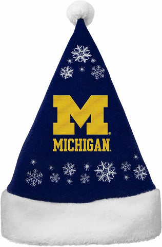 MICHIGAN WOLVERINES NCAA Full Embroidered Snowflake Christmas Santa Hat