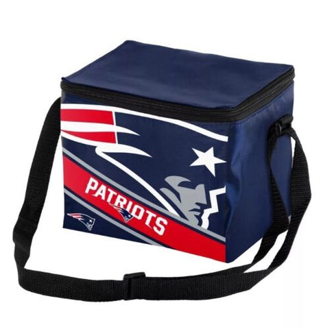 NEW ENGLAND PATRIOTS Big Logo Insulated Lunch Bag , 6 Pack Cooler with Strap