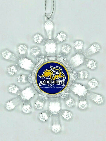 SOUTH DAKOTA STATE JACKRABBITS Traditional Acrylic Snowflake Christmas Ornament