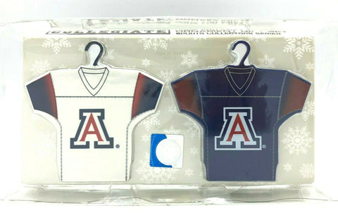 ARIZONA WILDCATS NCAA Home & Away Jersey Christmas Ornament 2-Pack