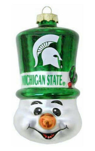 MICHIGAN STATE SPARTANS NCAA Top Hat Snowman Christmas Ornament