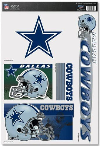 DALLAS COWBOYS NFL Reusable Vinyl Decals Set of 5 for Car or Home Windows