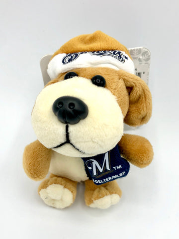 MILWAUKEE BREWERS MLB 4-Inch Plush Dog Christmas Ornament