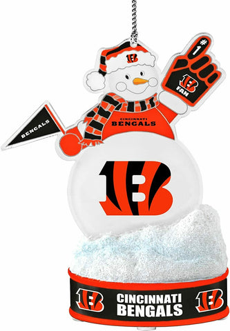 "CINCINNATI BENGALS NFL LED Snowman Christmas Ornament ""It Lights Up!!!"""