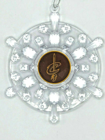 CLEVELAND CAVALIERS Traditional Acrylic Snowflake Christmas Ornament