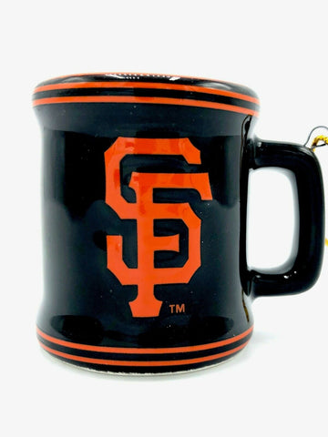 SAN FRANCISCO GIANTS MLB Ceramic Mini Mug Christmas Ornament