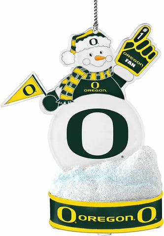 "OREGON DUCKS NCAA LED Snowman Christmas Ornament ""It Lights Up!!!"""