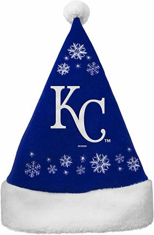 KANSAS CITY ROYALS MLB Embroidered Snowflake Christmas Santa Hat