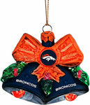 DENVER BRONCOS NFL Glitter Bells Christmas Ornament