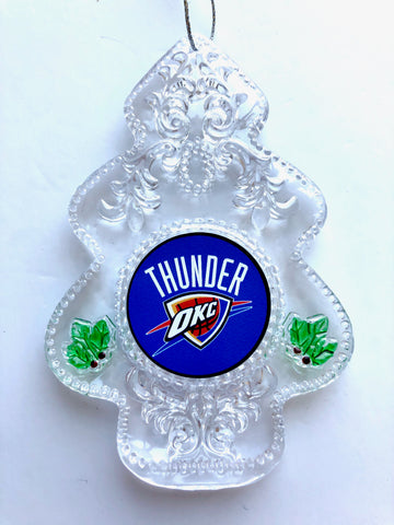 OKLAHOMA CITY THUNDER NBA Acrylic Christmas Tree Ornament