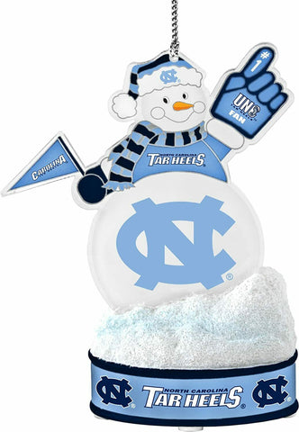 "NORTH CAROLINA TAR HEELS NCAA LED Snowman Christmas Ornament ""It Lights Up!!!"""