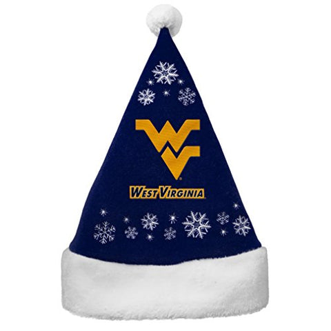 WEST VIRGINIA MOUNTAINEERS NCAA Full Embroidered Snowflake Santa Hat