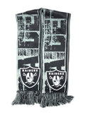 LAS VEGAS (OAKLAND) RAIDERS NFL Big Logo Double Sided Scarf