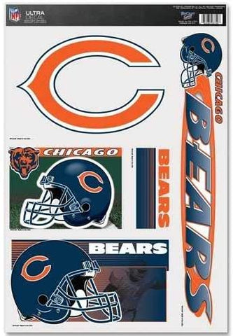 CHICAGO BEARS Reusable Vinyl Decals Set of 5 for Car or Home Windows