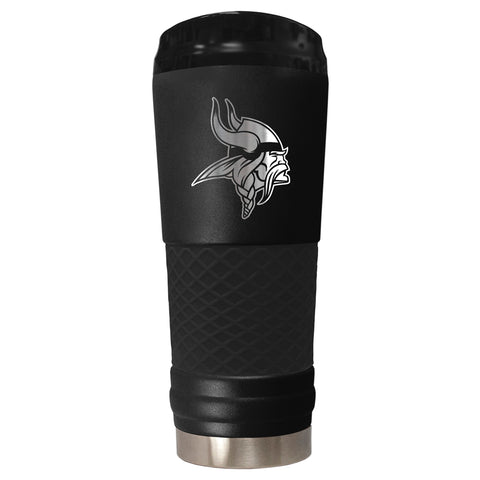 MINNESOTA VIKINGS Stealth Black Stainless Steel Hot & Cold Tumbler, 24oz