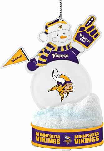 "MINNESOTA VIKINGS NFL LED Snowman Christmas Ornament ""It Lights Up!!!"""