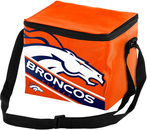 DENVER BRONCOS Big Logo Insulated Lunch Bag , 6 Pack Cooler with Strap