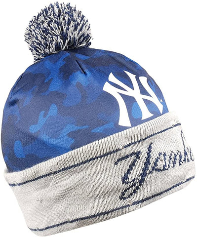 NEW YORK YANKEES MLB Camo Light Up LED Knit Hat