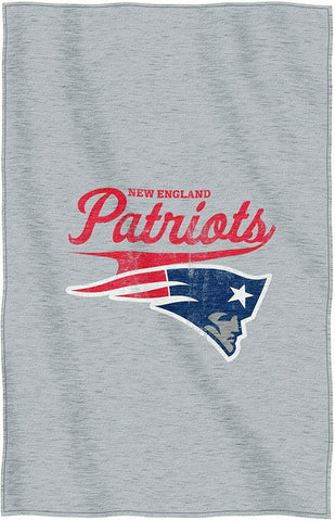 "New England Patriots NFL Script Sweatshirt Throw Blanket, 54"" x 84"" by Northwest"