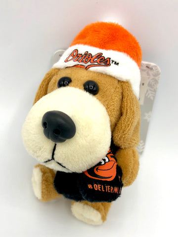 BALTIMORE ORIOLES MLB 4-Inch Plush Dog Christmas Ornament