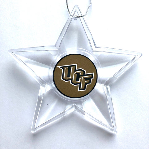 UCF KNIGHTS NCAA Traditional Acrylic Star Christmas Ornament