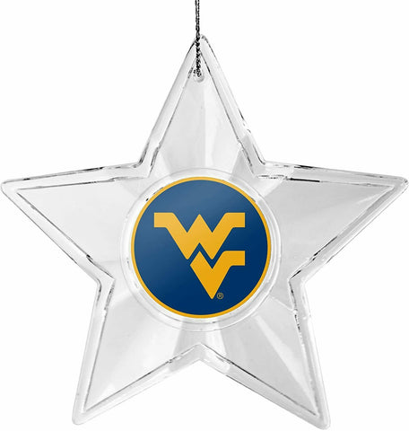 WEST VIRGINIA MOUNTAINEERS NCAA Tide Traditional Acrylic Star Christmas Ornament