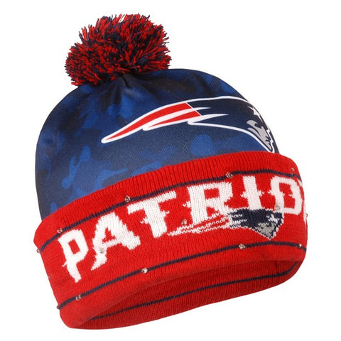 NEW ENGLAND PATRIOTS NFL Camo Light Up LED Knit Hat