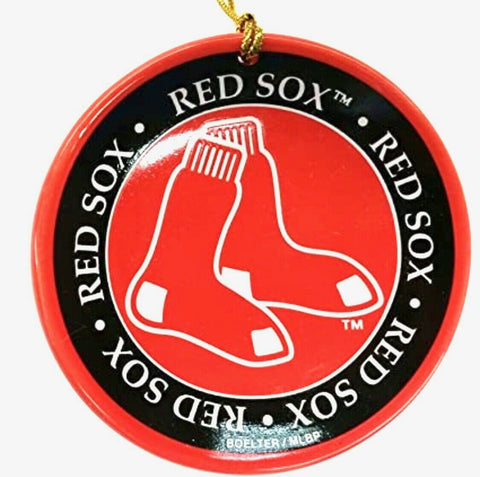 BOSTON RED SOX Mini Ceramic Plate Christmas Ornament