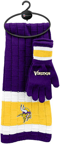 MINNESOTA VIKINGS NFL Knit Scarf & Gloves Set