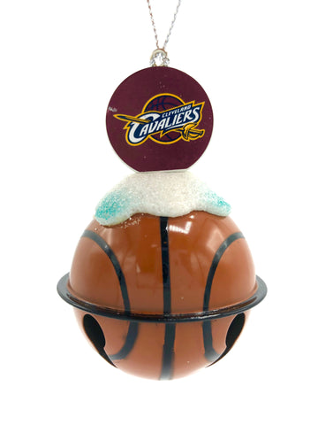 CLEVELAND CAVALIERS NBA Metal Basketball Bell Christmas Ornament