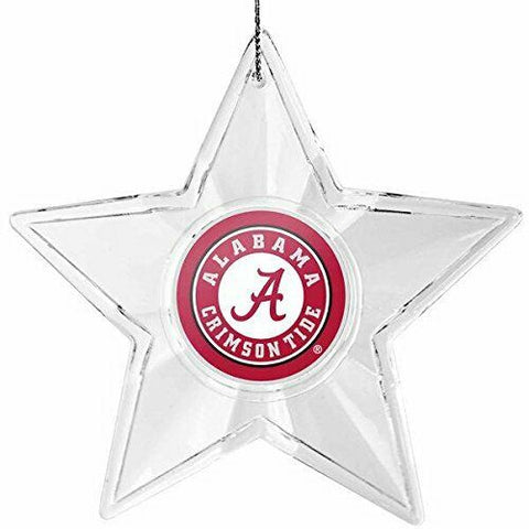 ALABAMA CRIMSON TIDE NCAA Traditional Acrylic Star Christmas Ornament