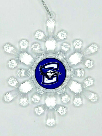 CREIGHTON BLUEJAYS NCAA Traditional Acrylic Snowflake Christmas Ornament