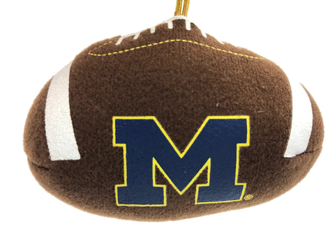 MICHIGAN WOLVERINES NCAA Plush Football Ornament