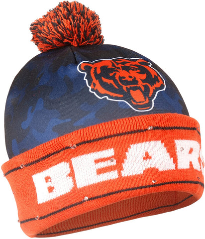 CHICAGO BEARS NFL Camo Light Up LED Knit Hat