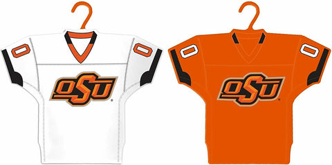 OKLAHOMA STATE COWBOYS NCAA Home & Away Jersey Christmas Ornament 2-Pack