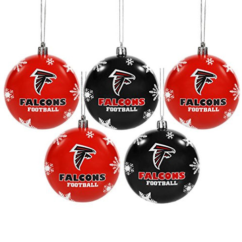 ATLANTA FALCONS NFL 5-Pack Shatterproof Ball Ornament Set