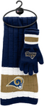 LOS ANGELES RAMS NFL Knit Scarf & Gloves Set