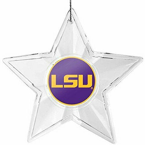 LSU TIGERS NCAA Traditional Acrylic Star Christmas Ornament