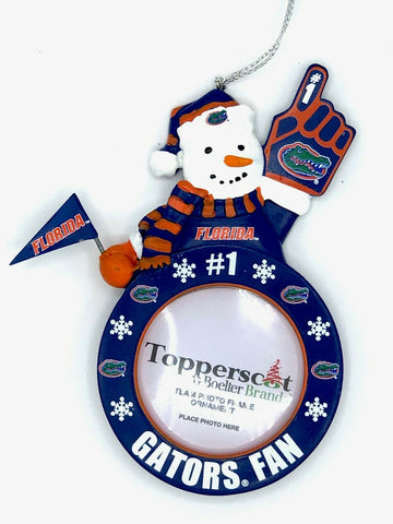 FLORIDA GATORS NCAA Snowman Photo Frame Christmas Ornament