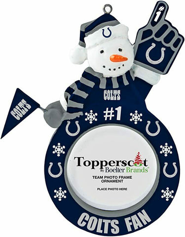 INDIANAPOLIS COLTS NFL Snowman Photo Frame Christmas Ornament