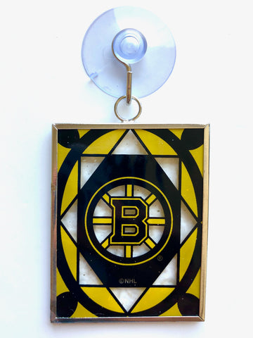 BOSTON BRUINS NHL Stained Glass Christmas Ornament & Suncatcher