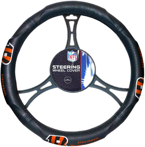 CINCINNATI BENGALS NFL Synthetic Leather Steering Wheel Cover