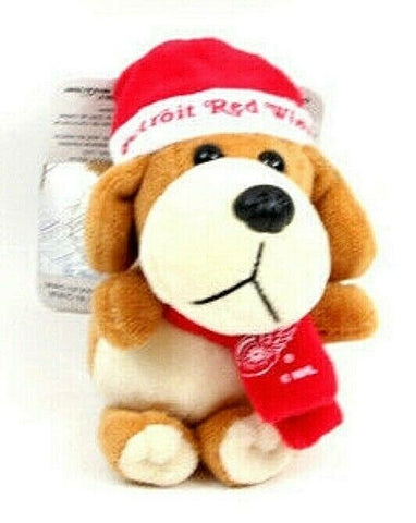 DETROIT RED WINGS NHL 4 inch Plush Dog Christmas Ornament