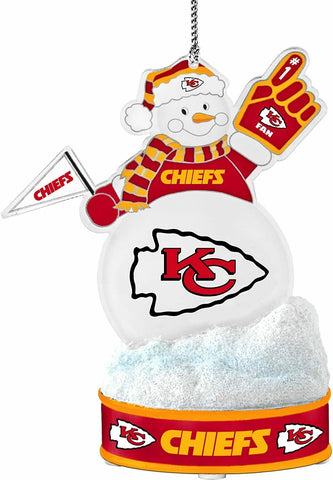 "KANSAS CITY CHIEFS NFL LED Snowman Christmas Ornament ""It Lights Up!!!"""