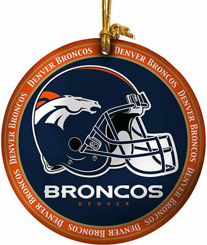 DENVER BRONCOS NFL Mini Ceramic Plate Christmas Ornament