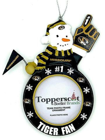 MISSOURI TIGERS NCAA Snowman Photo Frame Christmas Ornament