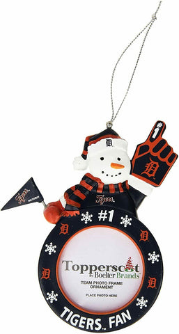 DETROIT TIGERS MLB Snowman Photo Frame Christmas Ornament
