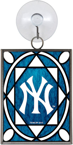 NEW YORK YANKEES MLB Stained Glass Christmas Ornament